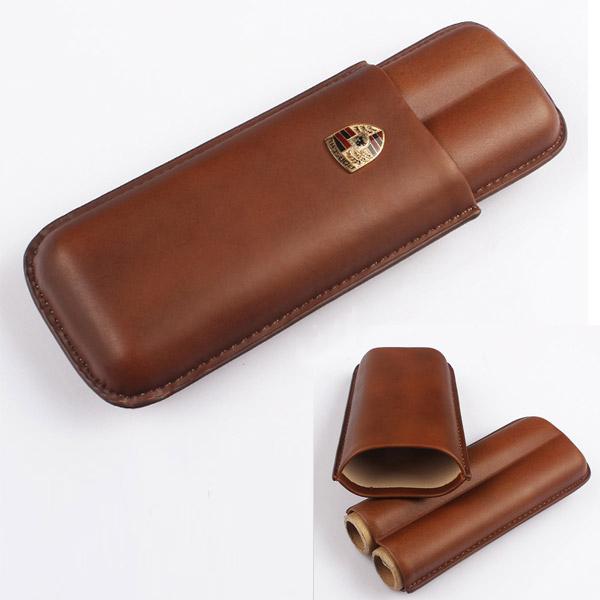 Bao da đựng Cigar Porsche chính hãng loại 2 điếu  - 0988001131