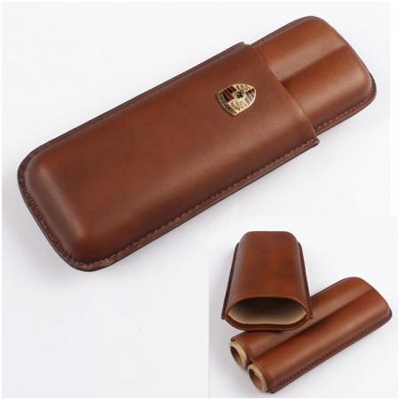 Bao da đựng Cigar (xì gà) Cohiba chính hãng loại 2 điếu - Mã SP: 1101L