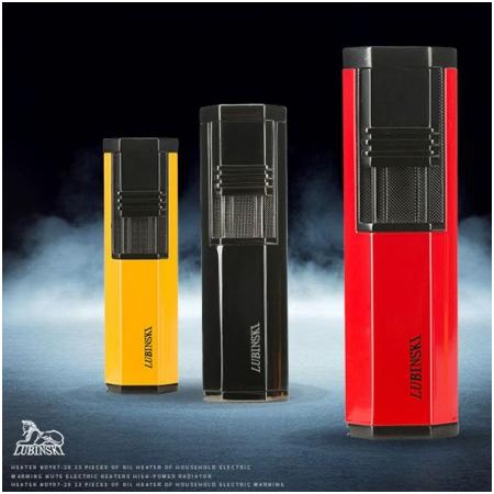 Bật lửa khò xì gà (cigar) Lubinski 2 tia kèm đục - Mã SP: KB33