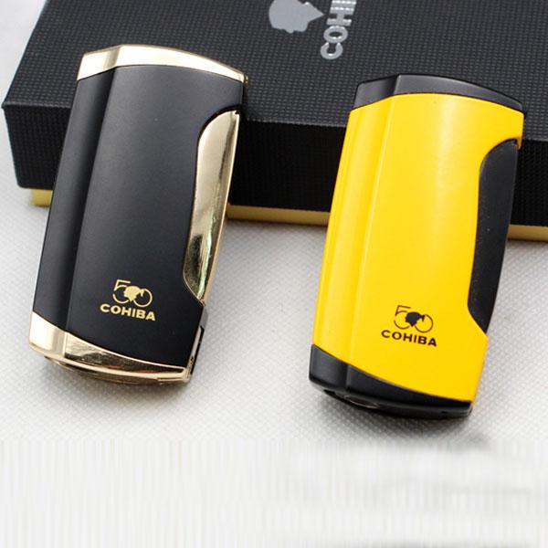 Bật lửa khò xì gà (cigar) Cohiba 2 tia cao cấp - 0988 00 11 31