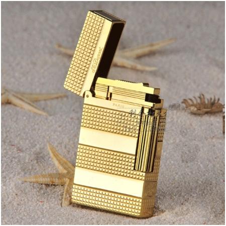 Bật lửa S.T.Dupont gold kẻ caro nhỏ bốn khúc - Mã SP: BLD158