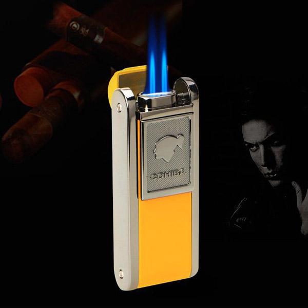 Bật lửa khò hút Cigar Cohiba chính hãng loại 2 tia lửa có thiết bị đục xì gà - 0988 00 11 31Bật lửa khò hút Cigar Cohiba chính hãng loại 2 tia lửa có thiết bị đục xì gà - 0988 00 11 31