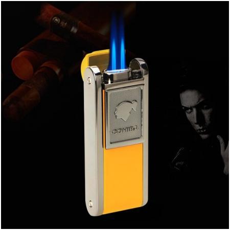 Bật lửa khò hút Cigar (xì gà) Cohiba chính hãng loại 2 tia lửa có thiết bị đục xì gà - Mã SP: BLH080