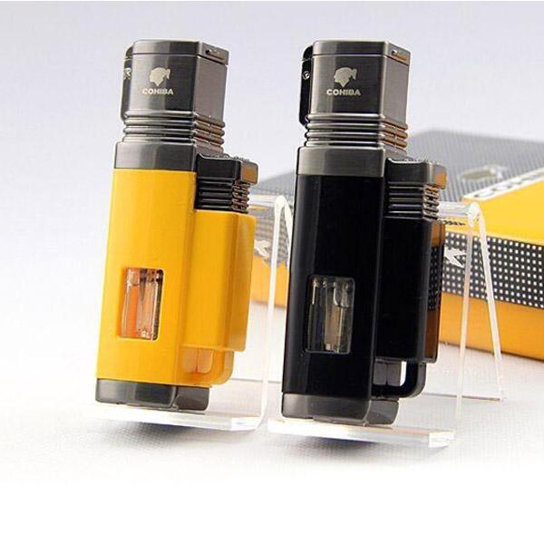 Bật lửa khò hút Cigar Cohiba chính hãng loại 4 tia lửa khò cực mạnh - 0988 00 11 31