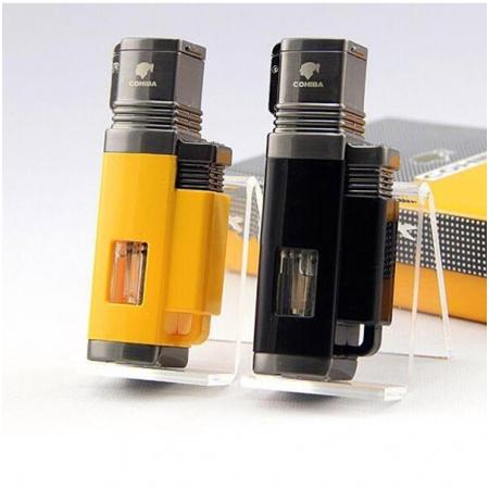 Bật lửa khò hút Cigar (xì gà) Cohiba chính hãng loại 4 tia lửa khò cực mạnh - Mã SP: BLH092