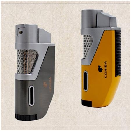 Bật lửa khò hút Cigar (xì gà) Cohiba chính hãng loại 1 tia lửa khò có vách kính soi gas - Mã SP: BLH098
