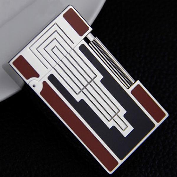 Bật lửa S.T.Dupont đỏ đen hoa văn hình tháp ngược trắng bạc - 0988 00 11 31