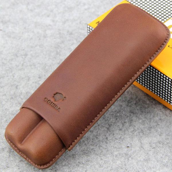 Bao da đựng Cigar Cohiba loại 2 điếu màu nâu chính hãng - 0988 00 11 31