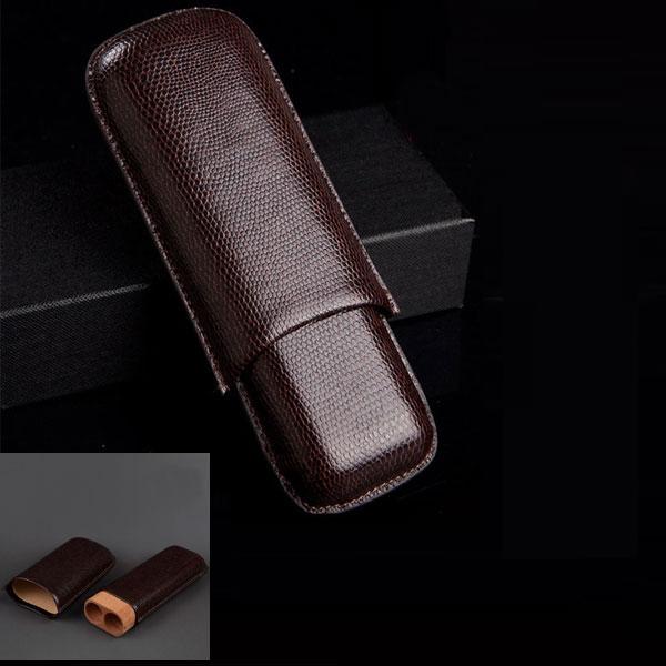 Bao da đựng Cigar Cohiba chất liệu da loại 2 điếu chính hãng - 0988 00 11 31