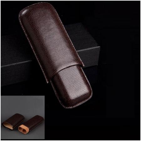 Bao da đựng Cigar (xì gà) Cohiba chất liệu da loại 2 điếu chính hãng - Mã SP: 5200L