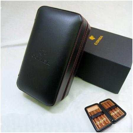 Hộp đựng Cigar (xì gà) Cohiba loại 6 điếu màu đen chính hãng - Mã SP: 021