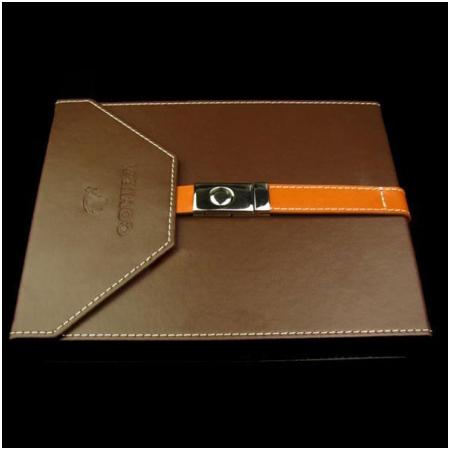 Hộp đựng Cigar (xì gà) Cohiba chất liệu da màu nâu chính hãng - Mã SP: H512
