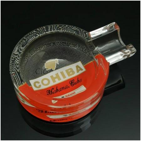 Gạt tàn Cigar (xì gà) Cohiba thủy tinh chính hãng loại 1 điếu - Mã SP: G113A