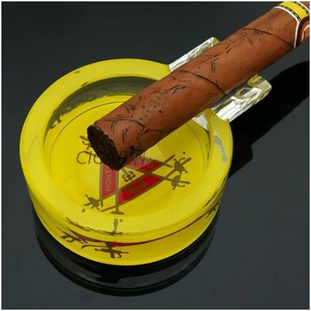 Gạt tàn Cigar (xì gà) Cohiba thủy tinh chính hãng loại 1 điếu - Mã SP: G113C