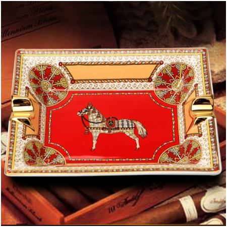 Gạt tàn Cigar (xì gà) Cohiba gốm sứ chính hãng loại 2 điếu - Mã SP: G234