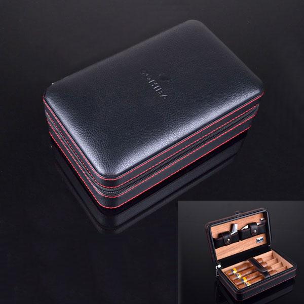 Set gạt hộp đựng Cigar, bật lửa Cigar, dao cắt Cigar Cohiba chính hãng - 0988 00 11 31
