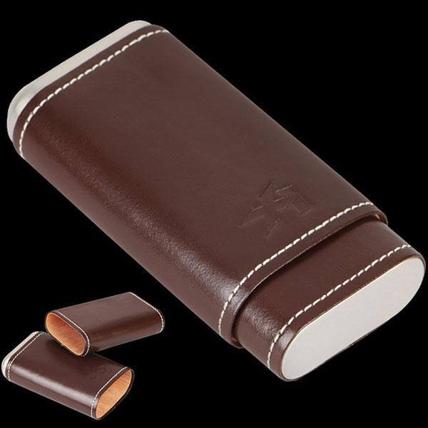 Bao da đựng Cigar Xikar loại 3 điếu màu nâu cao cấp - 0988 00 11 31