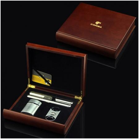 Set ống đựng Cigar, bật lửa khò hút Cigar, dao cắt Cigar Cohiba chính hãng - Mã SP: T10