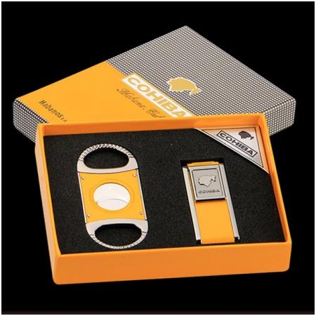 Set dao cắt Cigar (xì gà), bật lửa khò Cigar Cohiba chính hãng - Mã SP: T26