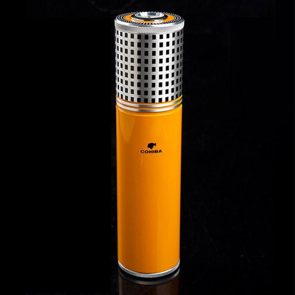 Ống đựng Cigar Cohiba chính hãng màu vàng - 0988 00 11 31
