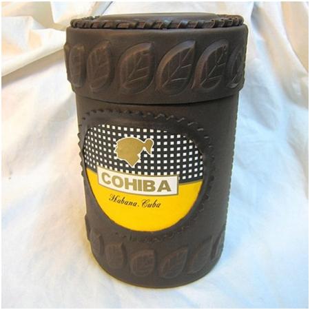 Ống đựng Cigar (xì gà) Cohiba chính hãng màu nâu - Mã SP: D011