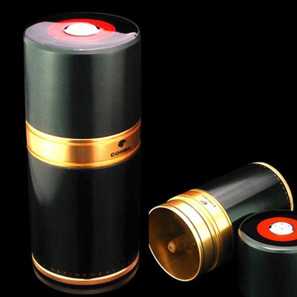 Ống đựng Cigar Cohiba chính hãng loại 7 điếu màu đen - 0988 00 11 31