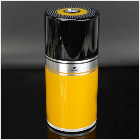 Ống đựng Cigar (xì gà) Cohiba chính hãng loại 7 điếu màu vàng - Mã SP: D003