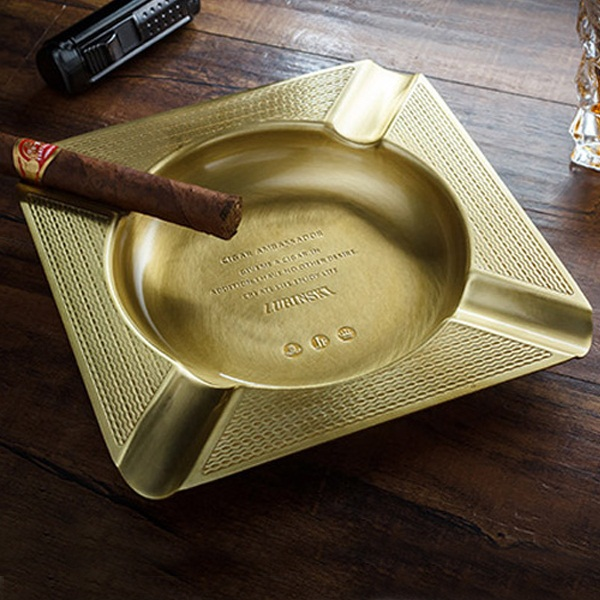 Gạt tàn xì gà (cigar) 4 điếu chính hãng Lubinski - 0988001131