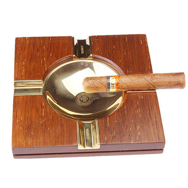 Gạt tàn xì gà (cigar) gỗ 4 điếu chính hãng Lubinski -  0988001131