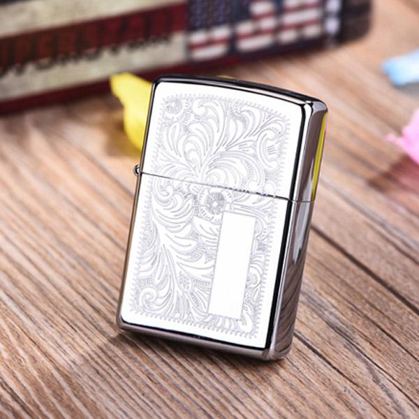 Bật lửa Zippo Mỹ bạc khắc chính hãng Venetian - 0988 00 11 31