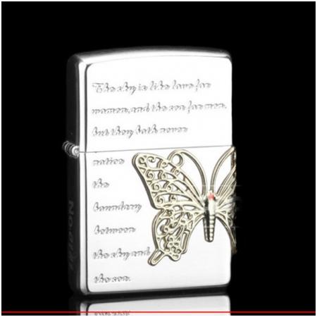 Bật lửa Zippo Mỹ dán hình con bướm - Mã SP: Z068