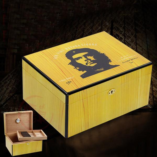 Hộp giữ ẩm Cigar Cohiba màu vàng chất liệu gỗ tuyết tùng - 0988 00 11 31