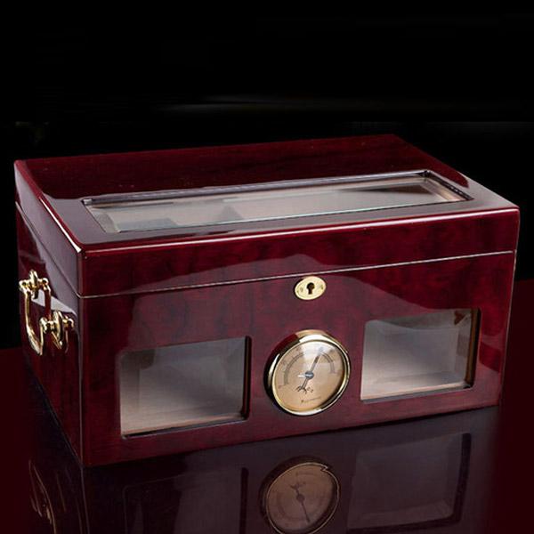 Hộp giữ ẩm Cigar Cohiba màu nâu cao cấp - 0988 00 11 31