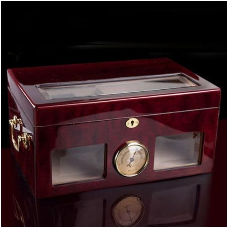 Hộp giữ ẩm Cigar (xì gà) Cohiba màu nâu cao cấp - Mã SP: H532B