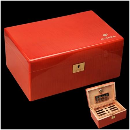 Hộp đựng Cigar (xì gà) Cohiba chính hãng chẩt liệu gỗ tuyết tùng - Mã SP: H683