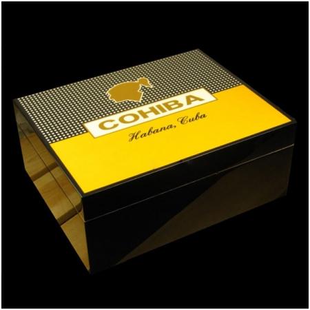 Hộp đựng Cigar (xì gà) Cohiba chất liệu gỗ tuyết tùng cao cấp - Mã SP: H525 - 50
