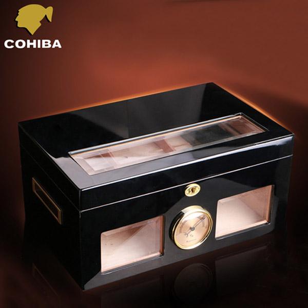 Hộp đựng Cigar Cohiba màu đen cao cấp - 0988 00 11 31
