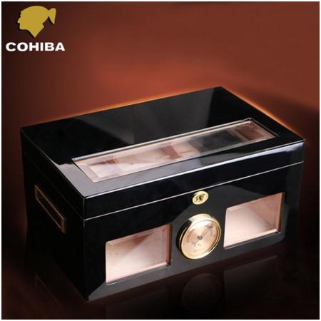 Hộp đựng Cigar (xì gà) Cohiba màu đen cao cấp - Mã SP: H532C