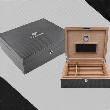 Hộp đựng Cigar (xì gà) Cohiba chất liệu gỗ tuyết tùng cao cấp - Mã SP: H711