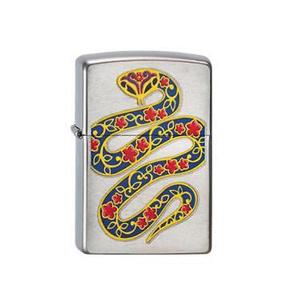 Bật lửa Zippo Mỹ hình rắn hoa - 0988 00 11 31