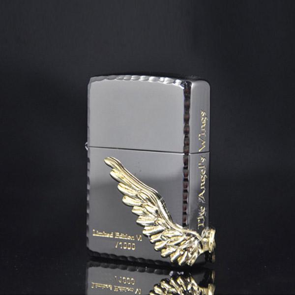 Bật lửa Zippo Mỹ đôi cánh thiên thần băng đen - 0988 00 11 31