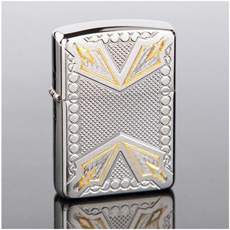 Bật lửa Zippo Mỹ khắc mũi tên trắng vàng - Mã SP: Z077
