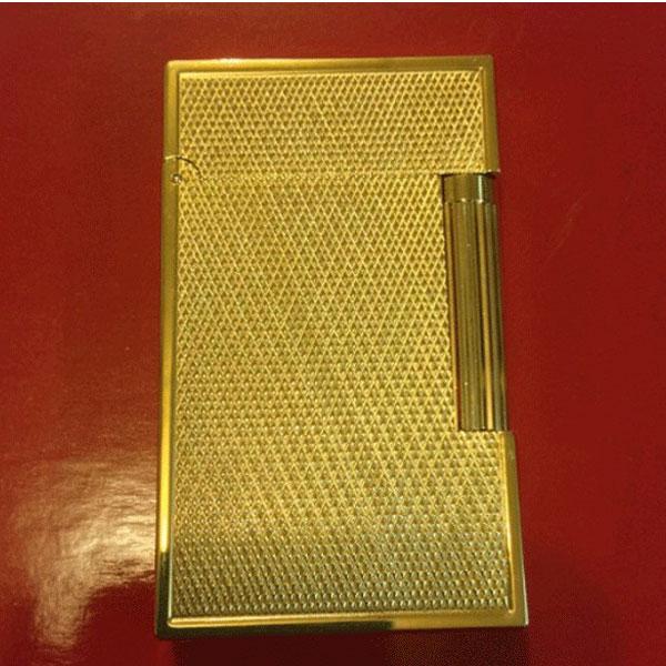 Bật lửa S.T.Dupont màu vàng sọc chéo viền vàng - 0988 00 11 31