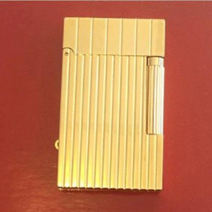 Bật lửa S.T.Dupont màu vàng sọc đứng to nhỏ - 0988 00 11 31