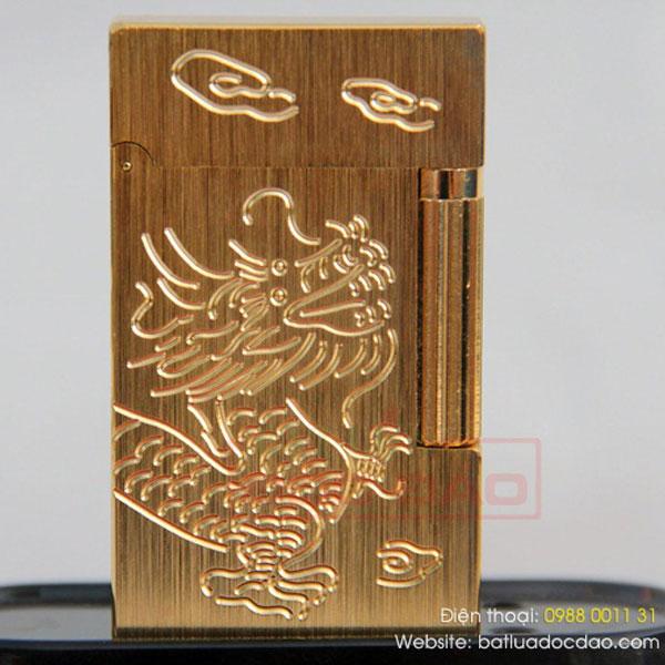 Bật lửa S.T.Dupont vàng xước khắc hình rồng - 0988 00 11 31