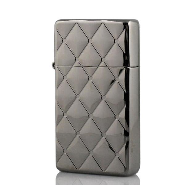 Bật lửa Zippo Mỹ hoa văn kim cương màu bạc - 0988 00 11 31