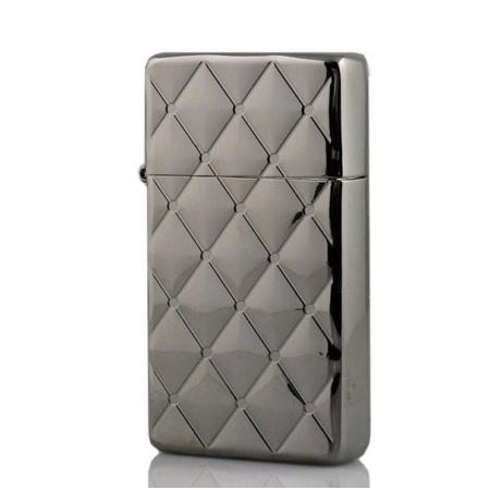 Bật lửa Zippo Mỹ hoa văn kim cương màu bạc - Mã SP: Z081