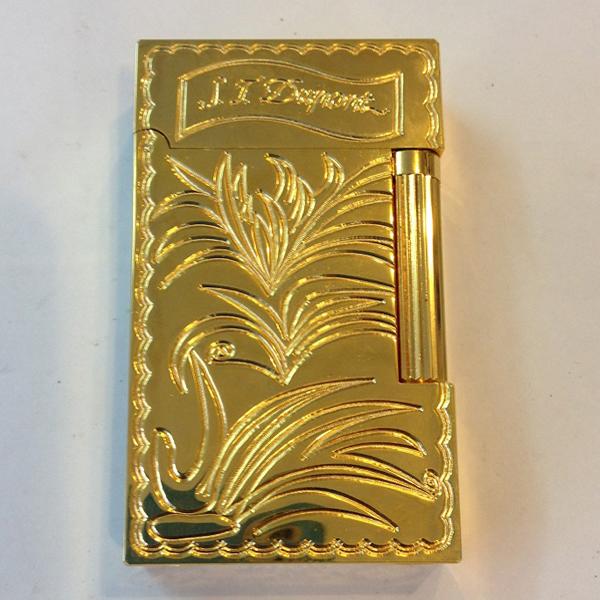 Bật lửa S.T.Dupont gold khắc hình hoa lá - 0988 00 11 31