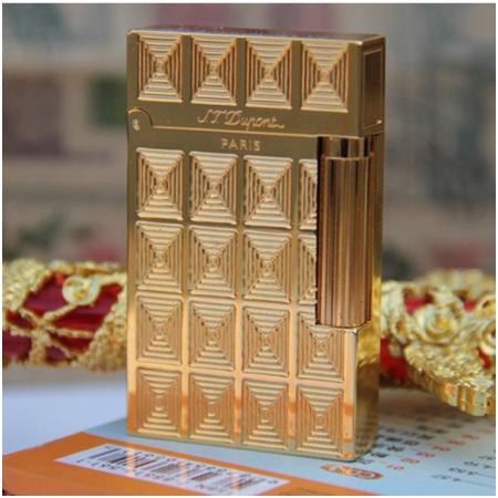 Bật lửa S.T.Dupont gold hoa văn mê cung  - Mã SP: BLD073
