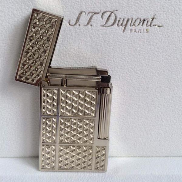 Bật lửa S.T.Dupont silver hoa văn tam giác nhỏ - 0988 00 11 31